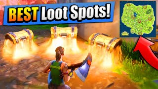 TOP 6 BEST LOOT SPOTS! (+ Where To Find Them) Fortnite: Battle Royale