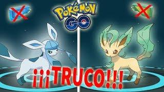 Leafeon  - (Pokémon) - ¡TRUCO COMO CONSEGUIR A GLACEON y LEAFEON SIN CEBOS en POKÉMON GO! [Keibron]