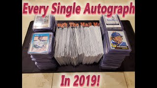 Through The Mail Autograph 2019 Recap - My Complete TTM Autograph Collection And Looking Toward 2020