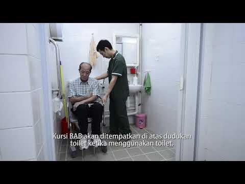 影片: Membantu Lansia pindah dari kursi BAB ke dudukan toilet