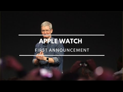 Apple Watch introduced for the first time at Apple event by Tim Cook