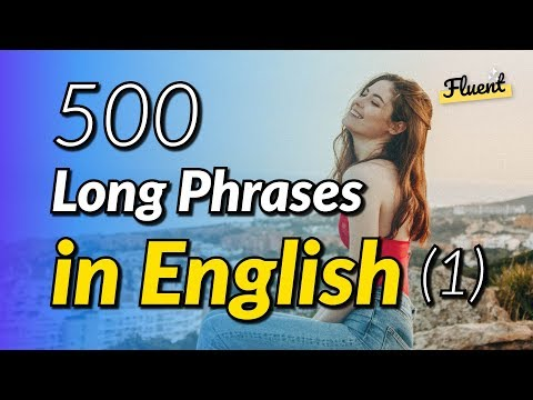The 500 common long phrases in English - Volume 1