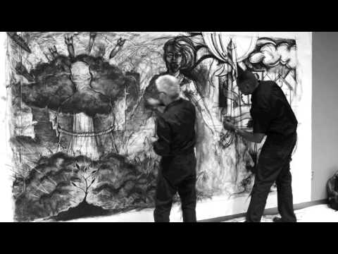 Sergio Gomez and Steve Prince Live Drawing Performance 4-26-14 (time-lapse)