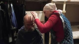 Мих. 1:16 Сними с себя волосы,   остригись, расширь  из-за них лысину.