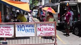 În Manila, Filipine autoritățile au cerut purtarea obligatorie a măștilor