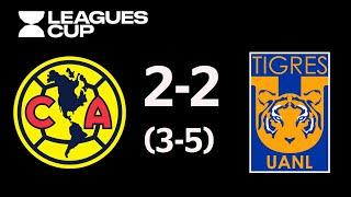 Resumen y Goles | América vsTigres UANL | Leagues Cup - 2019