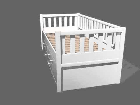 Dannenfelser Kindermöbel GmbH |  ROOMSTAR Kojenbett I inkl. 4 Schubladen + 2 Türen, 90x200cm, weiss