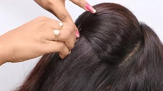New Hair Style For Wedding Party!! Indian Wedding Hairstyles For Long Hair, Latest Wedding Hairstyle
