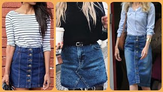 Top Elegant And Fabulous 2020 New Arrival Denim Skirt Ideas And Designs For Girls And Women