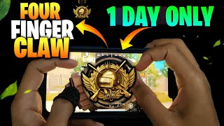 🔥4 FINGER CLAW MASTER WITHIN 1 HOURS   MUST WATCH   4 FINGER CLAW SETTING   PUBG MOBILE  