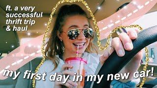 VLOG // my new car, HOW I bought a car, and come thrift with me!