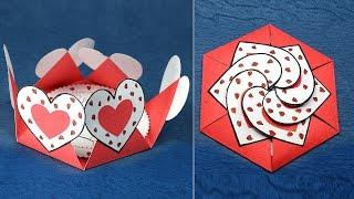 DIY Valentine Card - Hexagon Shape Heart Message Card