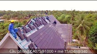 lop ngoi tren mai be tong - ANH PHÚC - TÂN XUÂN - Hệ Batten trên mái bê tông