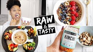 100% RAW VEGAN MEALS!  ➟ what I eat In a day