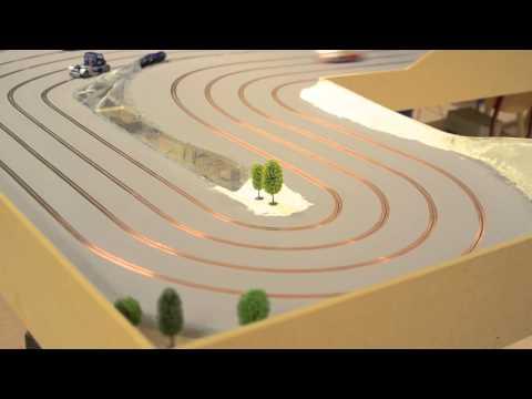 My third slot car track – 4 lane portable track
