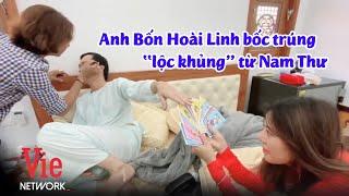 """Nam Thư chơi lớn lì xì """"tiền khủng"""" cho nghệ sĩ xuyên Tết, anh Bốn Hoài Linh bốc trúng bao nhiêu?"""