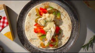 Piadina con pollo grigliato, peperoni e Raclette Suisse® Video