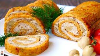 Куриный Рулет с Сыром | Очень Вкусный и Сочный
