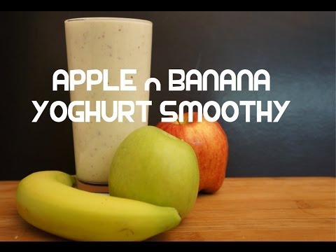 Video Apple & Banana Yoghurt Smoothy Recipe - Smoothie
