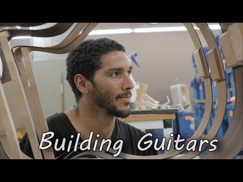 Building Guitars at Taylor guitar Factory in El Cajon California.