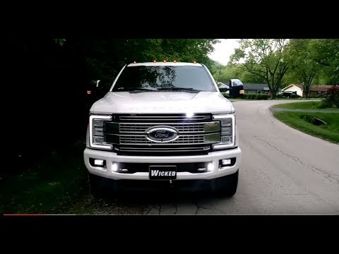 2017 F-350 PLATINUM Led strobe lights O'Hare Towing Wicked Warnings