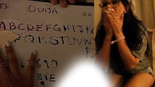 HOMEMADE OUIJA BOARD IN HAUNTED HOTEL (DO NOT TRY)