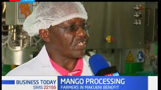 Mango processing plant in Makuni County