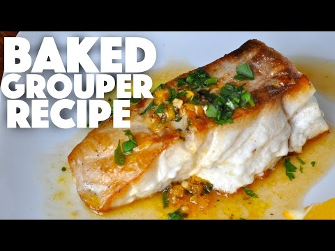 Catch n Cook Baked Grouper Fillet Recipe – saltwater fish dinner – filet and cook