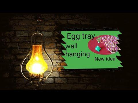 Beautiful egg carton craft//DIY egg carton craft//Egg tray wall hanging