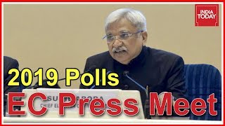 Election Commission Press Conference Announcing 2019 Lok Sabha Schedule | Watch Full Video