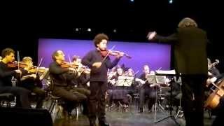 Akim Camara 11yo Violinist Playing , C A  De Beriot Concert Nr  9 2012