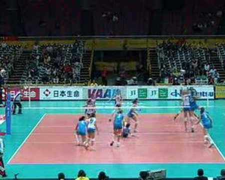 immagine di anteprima del video: Ricezione e attacco della pallavolo italiana femminile