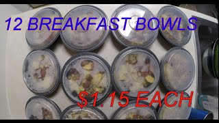 12 Breakfast Bowls For $1.15 Each! #mealprepsunday