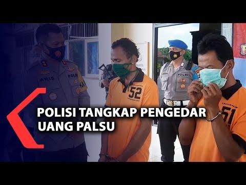 polisi tangkap dua pengedar uang palsu