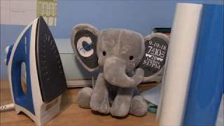 Birth Stats Elephant using HTV/Iron on and your cricut