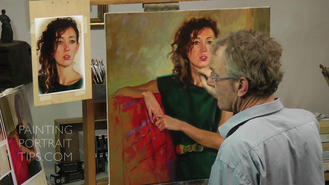 portrait painting tips by ben lustenhouwer