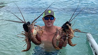 2019 LOBSTER & LION FISH Catch , Clean and Cook BLUEGABE style