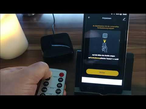 Universal Infrarot Fernbedienung App Steuerung /Alexa -- Einrichtung und Funktion