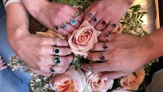 A Rainbow Of Colour Gemstone Rings
