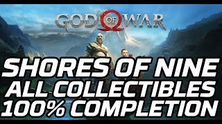 [God of War] Shores of Nine - All Collectibles (lore markers, ravens, legendary chests, gateways)