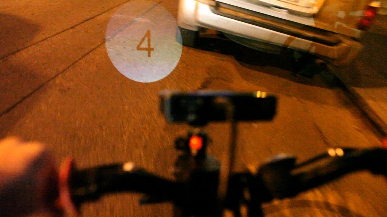 Hacked Bike Headlight Projects Your Speed On The Road Ahead
