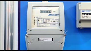 Счетчик Энергомера  ЦЭ 6804-U/1 220В 5-120А 3ф.4пр. МШ35И от компании ПКФ «Электромотор» - видео