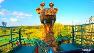 [4K] Cobra - Spinning Roller Coaster POV - Busch Gardens Tampa Bay