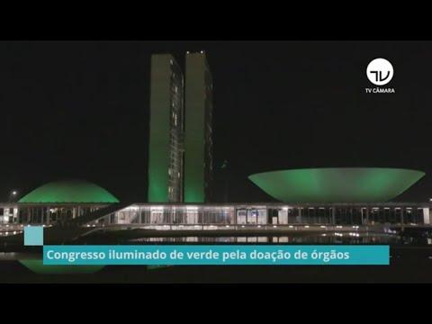 Congresso iluminado de verde pela doação de órgãos - 08/10/21