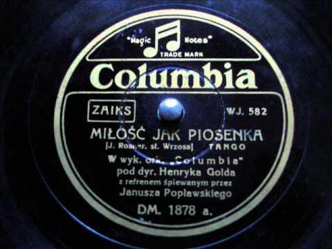 Miłość jak piosenka (tango) - Janusz Popławski
