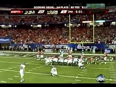 2008 #24 Alabama vs  #9 Clemson