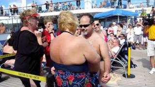 Mens Hairy Chest/Dance Competition On Carnival Freedom