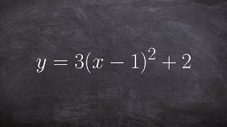 How to write an equation from vertex form to standard form