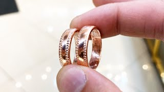 Making a Rose Gold Wedding Ring   Jewelry Making   How it's made   4K Video