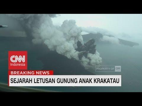 Sejarah Letusan Gunung Anak Krakatau